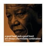 Nelson Mandela Quote iNspire 2 Motivational Poster Plakat
