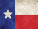 Texas Flag Distressed Art Print Poster Poster