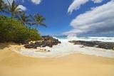 Makena Cove, also known as Secret Beach and Wedding Beach, Maui, Hawaii Reproduction photographique par Ron Dahlquist