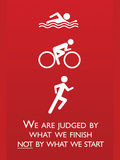 Triathlon Motivational Quote Sports Poster Print Prints