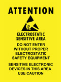Electrostatic Sensitive Area ESD Warning Sign Poster Print Print