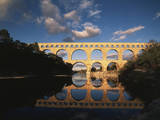 France, Gard, Languedoc, Pont Du Gard Bridge and River Gardon Photographic Print by David Barnes