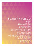 Hashtag City San Francisco Poster