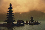Indonesia, Bali, Bedugul Highland, Tall Pagoda at Dawn Photographic Print by David Herbig
