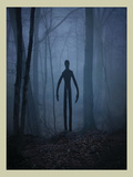 Slender Man In Woods Prints