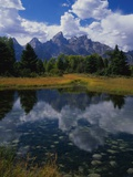 Shallow Pond Near Teton Range Photographic Print by James Randklev