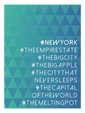 Hashtag City New York Prints