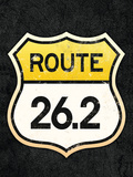 Route 26.2 Marathon Sports Poster Prints