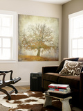Textured Tree Wall Mural by Philippe Manguin