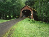 Covered Bridge Near Coast Photographic Print by Craig Tuttle