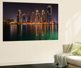 Dubai by Night Wall Mural by Marco Carmassi