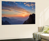 West Sea Valley Sunset Wall Mural by Yan Zhang