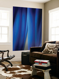 Blue Leaf Curtains Wall Mural by Philippe Sainte-Laudy
