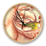 Flower Power I Clock by Bookman Deborah