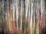 Pink Autumn Kunst på metall av Ursula Abresch