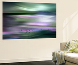 Migrations - Green Sky Wall Mural by Ursula Abresch