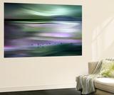Migrations - Green Sky Seinämaalaus tekijänä Ursula Abresch