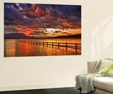 Mortimer Bay Sunset Wall Mural by Margaret Morgan
