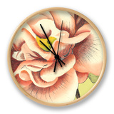 Flower Power III Clock by Bookman Deborah