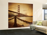 Vintage Golden Gate Wall Mural – Large by Philippe Sainte-Laudy