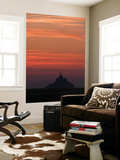 Mont Saint Michel at Night Wall Mural by Philippe Manguin