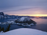Sunrise over Crater Lake Photographic Print by Craig Tuttle