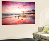 Indonesia Sunset Premium Wall Mural by Marco Carmassi