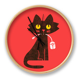 Hungry Hungry Cat Clock by Budi Kwan