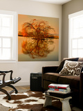 Golden Tree Wall Mural by Philippe Sainte-Laudy