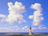 Yaquina Head Lighthouse and Cloudy Sky Photographic Print by Craig Tuttle