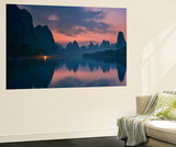 The Dawn of Li River Wall Mural by Yan Zhang