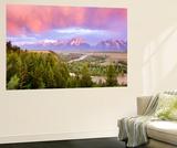 Teton Range Wandgemälde von Art Wolfe