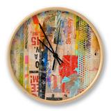 Metro Mix I Horloge par Erin Ashley