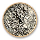Graphic Chintz II Clock