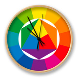 Color Wheel Clock by Peter Hermes Furian