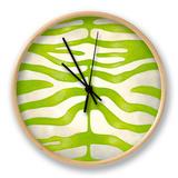 Vibrant Zebra III Clock by Chariklia Zarris