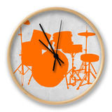 Orange Drum Set Clock by  NaxArt