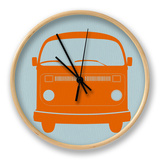 Orange VW Bus Clock by  NaxArt