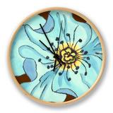 Petal Poetry III Clock by Slocum Nancy