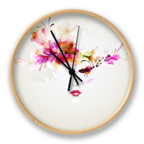 Beautiful Fashion Women With Abstract Design Elements Clock by  artant