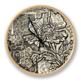 Graphic Chintz III Clock