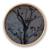 Branch in Silhouette IV Clock