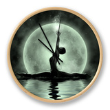 Moonlight Yoga Meditation Klocka av  Detelina
