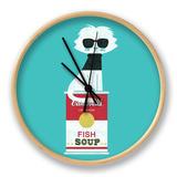 Andy Warhol Cat Clock by Budi Kwan