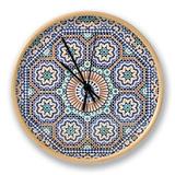 Oriental Mosaic In Morocco Uhr von  p.lange