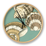 Small Shell Trio on Blue II Ur af Megan Meagher