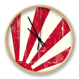 Grunge Japan Flag. An Old Japan Grunge Flag For You Clock by  TINTIN75