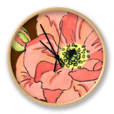 Petal Poetry II Clock by Slocum Nancy