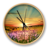 Sunset Is In The Field Clock by  nadiya_sergey