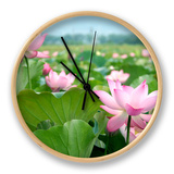 Lotus Flower Blossom Clock by  videowokart